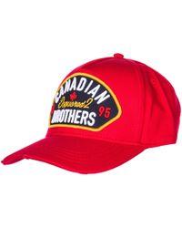 12692b0ff678dd DSquared² Baseball Cap in Red for Men - Lyst