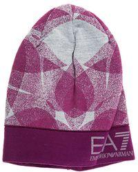 EA7 - Beanie Hat Train Graphic - Lyst