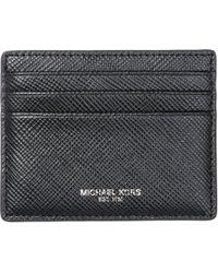 Michael Kors - Genuine Leather Credit Card Case Holder Wallet Harrison - Lyst