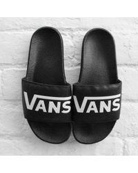 fb7764958c5660 Vans Checkerboard Slide-on in Black for Men - Lyst
