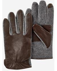 Polo Ralph Lauren Gants tactiles en cuir et laine