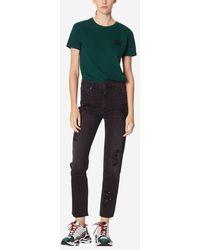 Sandro - Jeans droit taille haute - Lyst