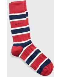 GANT - Striped Rib Socks - Lyst