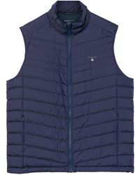 201f7d09b1 Men's GANT Waistcoats and gilets Online Sale - Lyst
