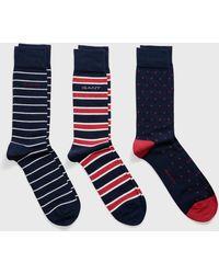 GANT - Three-pack Mixed Socks - Lyst