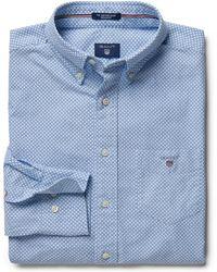 GANT - Regular Oxford Printed Dot Shirt - Lyst