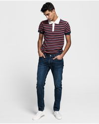 GANT - Tech Preptm Tapered Jeans - Lyst