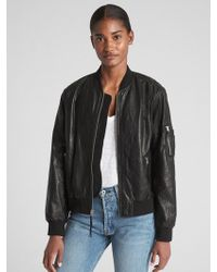 Lyst Gap Plaid Print Puffer Bomber Jacket In Black