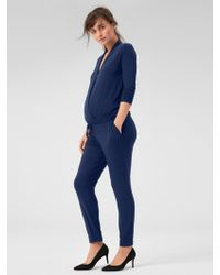 22098079ad9d Gap - Maternity Long Sleeve Wrap Jumpsuit - Lyst