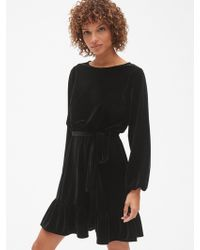 Gap - Velvet Tie-waist Dress - Lyst