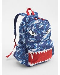8701cee384fa Lyst - Gap Graphic Junior Backpack in Blue