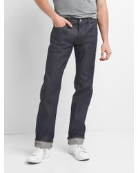 Gap - Selvedge Jeans In Straight Fit - Lyst