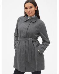 Gap - Maternity Tie-belt Coat In Wool-blend - Lyst