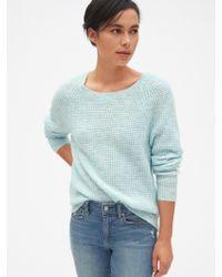 317839a5961413 Gap Soft Textured Merino Wool Blend Sweater in Blue - Lyst