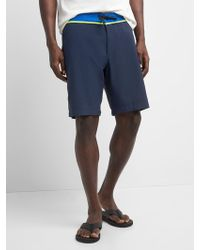 "Gap - 10"" Solid Board Shorts With Bi-stretch - Lyst"