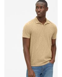 78a9432e3 Lyst - Gap Mini Stripe Jersey Polo in Blue for Men