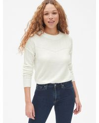 Gap - Lacy Pointelle Crewneck Pullover Sweater - Lyst