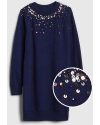 Gap - Sequin-sleeve Sweater Dress - Lyst