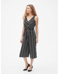 e5dd38e4f27 Lyst - Gap Square-neck Cami Wide-leg Jumpsuit In Modal in Black