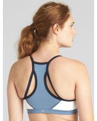 6c706ce4c9 Lyst - Gap Fit Medium Impact T-back Sports Bra in Blue