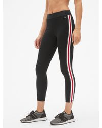 Gap - Gfast Blackout Side Stripe 7/8 Leggings - Lyst