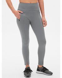 cc1998768fe1a Gap Zip Leggings With Wide Waistband In Bi-stretch in Black - Lyst