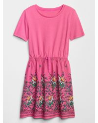 GAP Factory - Print Mix-media Dress - Lyst