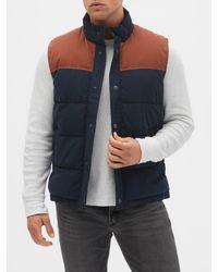 GAP Factory - Colorblock Puffer Vest - Lyst