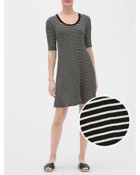 e0afcd1fde5 New York & Company Striped Scoopneck Sweater Dress in Black - Lyst