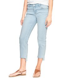 GAP Factory - Mid Rise Straight Crop Jeans - Lyst