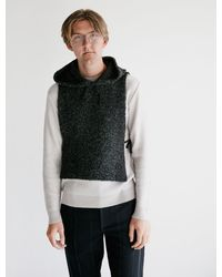 Engineered Garments Hooded Interliner Poly Acrylic Curly Knit - Multicolor