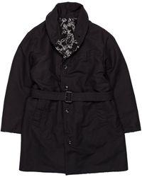 Engineered Garments Cotton Double Cloth Shawl Collar Reversible Coat - Black