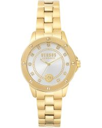 Versus - South Horizons Bracelet 38mm Watch Yellow Gold/white - Lyst