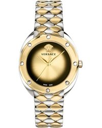 Versace - Idyia Watch 36mm Silver/gold - Lyst
