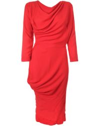 Vivienne Westwood Anglomania - New Fond Draped Voile Dress - Lyst