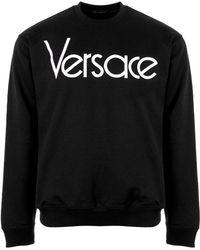 Versace - Vintage Logo Sweater Black - Lyst