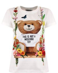 Moschino | Floral Bear T-shirt White | Lyst
