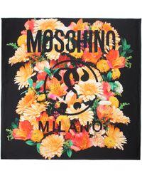 Moschino - Floral Scarf Black/multi - Lyst