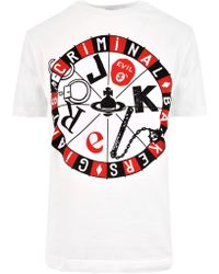Vivienne Westwood - Women's Roulette Joker Peru T-shirt White - Lyst