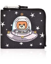 Moschino - Space Teddy Coin Holder Black - Lyst