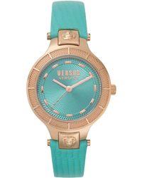 Versus - Claremont Watch Turquoise/rosegold - Lyst