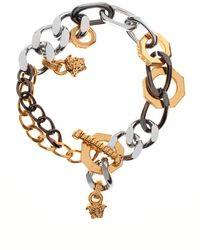 Versace | Medusa Nuts And Bolts Bracelet Gold/rhodium | Lyst