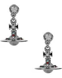 Vivienne Westwood - Petite Orb Earrings Ruthenium/multi - Lyst