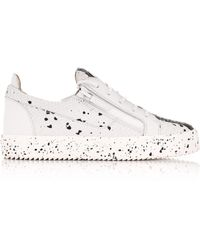 344d50d6ee802 Giuseppe Zanotti - Double Sketch Low-top Trainers White/black - Lyst