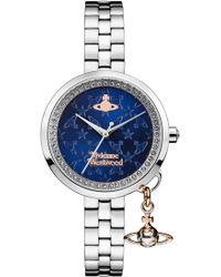 Vivienne Westwood   Bow Ii Watch Silver/navy   Lyst