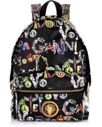 103b9699c2 Versus - Gianni Multi Print Backpack Black gold - Lyst