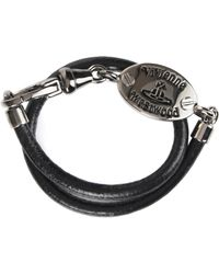Vivienne Westwood - Frederic Wrap Bracelet Ruthenium/rhodium/black - Lyst