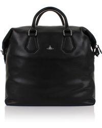 Vivienne Westwood - Milano Leather 131077 Weekender Bag Black - Lyst