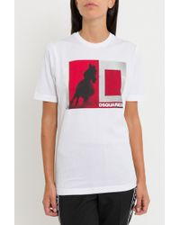 DSquared² - T-shirt With Horse Print - Lyst