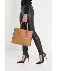 MICHAEL Michael Kors - Mercer Large Pebbled Leather Accordion Tote - Lyst